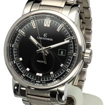 Chronoswiss Grand Pacific Steel Automatic Black Dial 42 mm...