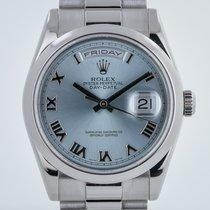 Rolex President Day-Date, 118206, Platinum, Glacier Roman Dial