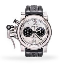 Graham Chronofighter Oversize Steel 47mm Silver Arabic numerals United States of America, Texas, Dallas