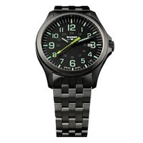 Traser Staal 42mm Quartz P67 Officer Pro Gun Metal Black/Lime, Stahlband nieuw