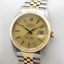 Rolex Datejust Edelstahl 18K Gold Gelbgold Automatic Herrenuhr