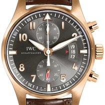 IWC Pilot Spitfire Chronograph Ouro rosa 43mm Cinzento Árabes
