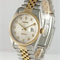 Rolex Kronometer 36mm Automatisk 1990 brukt Datejust (Submodel) Sølv