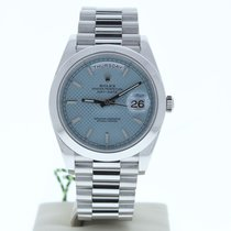 Rolex 40mm Remontage automatique occasion Day-Date 40 Bleu