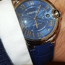 Cartier Ballon Bleu 42mm Сталь 42mm Синий Римские