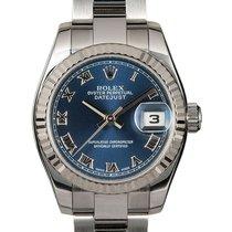 Rolex Lady-Datejust Acier 26mm Bleu Romain