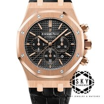 Audemars Piguet Royal Oak Chronograph Roségull 41mm Svart Ingen tall