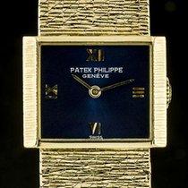 Patek Philippe Vintage Жёлтое золото 20.5mm Синий Римские
