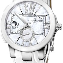Ulysse Nardin Executive Dual Time Lady Steel 40mm Mother of pearl United States of America, New York, Airmont