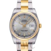 Rolex Datejust Oro amarillo 36.00mm Plata