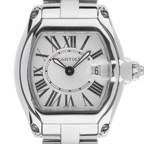 Cartier Roadster PM kleines Modell Stahl Quarz Armband Stahl...