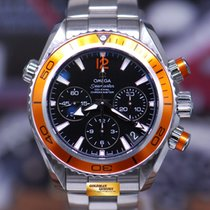 Omega Seamaster Planet Ocean Chronograph Steel 37.5mm Black No numerals Singapore, Singapore
