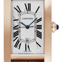 Cartier Tank Américaine Rose gold Silver Roman numerals