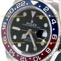 Rolex NUOVO GMT Master 2 con PLASTICHE ghiera PEPSI Rossa e Blu