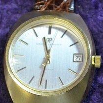 Girard Perregaux Quartz 9505 SF Gold Toned Mens Watch Leather...