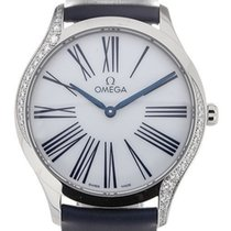 Omega new Quartz Gemstone Blue Steel Hands 36mm Steel Sapphire Glass