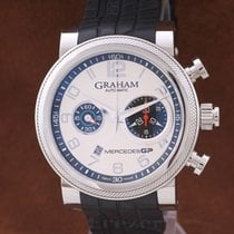 Graham Chronograph 47mm Automatic pre-owned Mercedes GP Silver