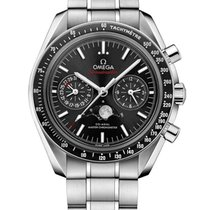Omega Speedmaster Professional Moonwatch Moonphase Acier Noir