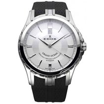 Edox Grand Ocean Steel 45mm Silver No numerals