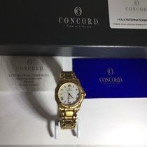 Concord Yellow gold Quartz White Roman numerals 36mm new Saratoga