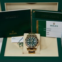 Rolex 116718LN Geelgoud 2018 GMT-Master II 40mm tweedehands