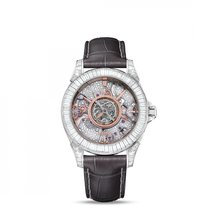 Omega De Ville Central Tourbillon Platin 38.7mm Transparent
