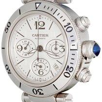 Cartier Pasha Seatimer Steel 41.5mm Silver Arabic numerals United States of America, Texas, Dallas