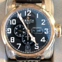 Zenith Pilot Type 20 Annual Calendar Ruzicasto zlato 48mm Crn Arapski brojevi