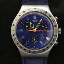 Swatch Aluminium Quarz Blau 40mmmm gebraucht