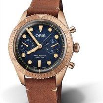 Oris Bronze Automatic Blue No numerals 43mm new Carl Brashear