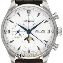Union Glashütte Chronograph 44.00mm Automatik 2018 neu Belisar Chronograph Weiß
