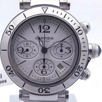 Cartier Pasha Seatimer Chronograph On Bracelet Silver Dial...
