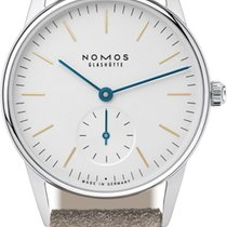 NOMOS Orion 33 new 2021 Manual winding Watch with original box 322 Sapphire Crystal Back