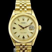 Rolex Datejust 6605 With Patina Heavy Dial Cased In 18k Yellow...