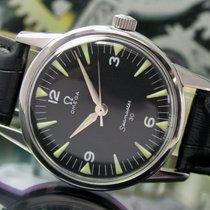 Omega Seamaster 30 Winding Steel Vintage Watch Black Radium Dial