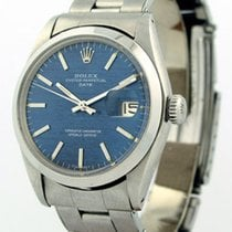 Rolex Oyster Perpetual Date Steel 1967 Blue Dial 34mm Automatic