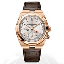 Vacheron Constantin Rose gold Automatic Silver No numerals 41mm new Overseas Dual Time
