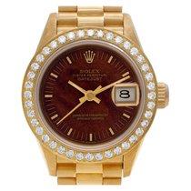 Rolex Lady-Datejust 69178 Meget god Gult guld 26mm Automatisk