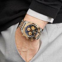 Breitling Chronomat Roestvrij Staal & 18K Rose Goud CB011012 -...