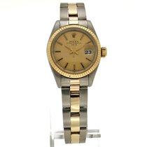 Rolex Oyster Perpetual Lady Date tweedehands 25mm Goud/Staal
