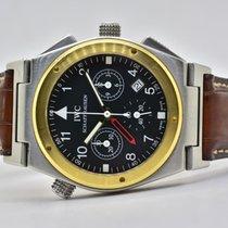 IWC Ingenieur Chronograph Ouro/Aço 34mm Preto Árabes