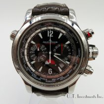 Jaeger-LeCoultre Master Compressor Extreme World Chronograph pre-owned 46mm Black Chronograph Date GMT Crocodile skin