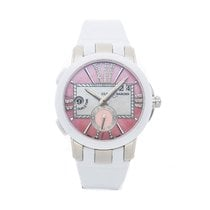 Ulysse Nardin Executive Dual Time Lady Steel 40mm Pink No numerals