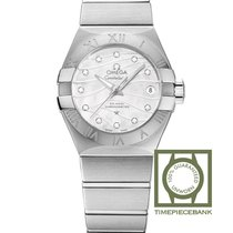 Omega Constellation Ladies Steel 27mm White