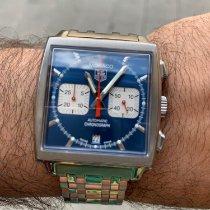 TAG Heuer Monaco Steel 38mm Blue No numerals
