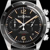 Bell & Ross new Automatic Display Back Luminescent Numerals Luminescent Hands Luminous indexes 41mm Steel Sapphire Glass