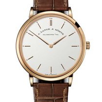 A. Lange & Söhne Saxonia Rose gold 40mm Silver No numerals