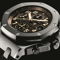 Audemars Piguet Royal Oak Offshore Chronograph Stahl 42mm Braun Arabisch