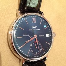 IWC Portofino Hand-Wound Steel 45mm Blue No numerals