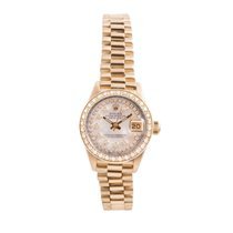 Rolex Or jaune Nacre 26mm occasion Lady-Datejust